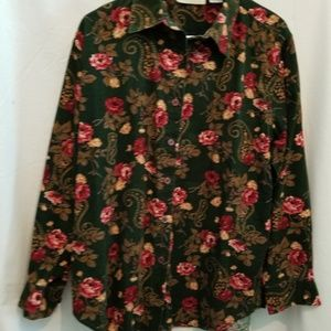Fall Floral Button Down sz Large